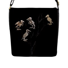 Dead Tree  Flap Messenger Bag (l)  by Valentinaart