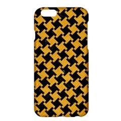 Houndstooth2 Black Marble & Orange Colored Pencil Apple Iphone 6 Plus/6s Plus Hardshell Case by trendistuff
