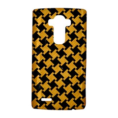 Houndstooth2 Black Marble & Orange Colored Pencil Lg G4 Hardshell Case by trendistuff
