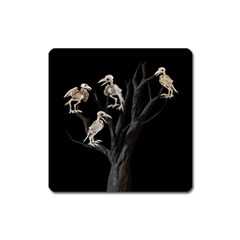 Dead Tree  Square Magnet by Valentinaart