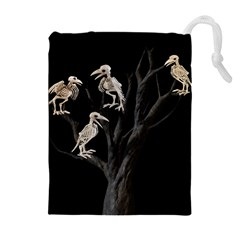 Dead Tree  Drawstring Pouches (extra Large) by Valentinaart