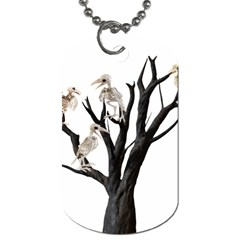 Dead Tree  Dog Tag (two Sides) by Valentinaart