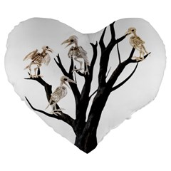 Dead Tree  Large 19  Premium Heart Shape Cushions by Valentinaart
