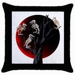 Dead Tree  Throw Pillow Case (black) by Valentinaart