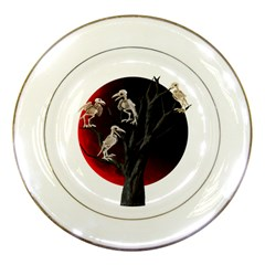 Dead Tree  Porcelain Plates by Valentinaart