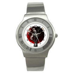 Dead Tree  Stainless Steel Watch by Valentinaart