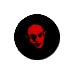 Dracula Rubber Round Coaster (4 Pack)  by Valentinaart