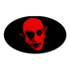 Dracula Oval Magnet by Valentinaart