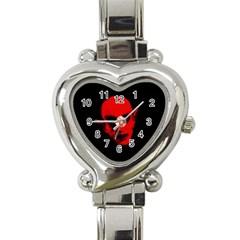 Dracula Heart Italian Charm Watch by Valentinaart