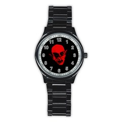 Dracula Stainless Steel Round Watch by Valentinaart