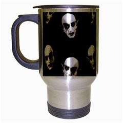 Dracula Travel Mug (silver Gray) by Valentinaart