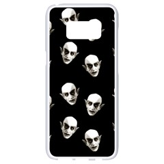 Dracula Samsung Galaxy S8 White Seamless Case by Valentinaart