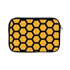 Hexagon2 Black Marble & Orange Colored Pencil (r) Apple Ipad Mini Zipper Cases