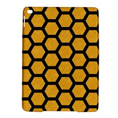 Hexagon2 Black Marble & Orange Colored Pencil (r) Ipad Air 2 Hardshell Cases by trendistuff