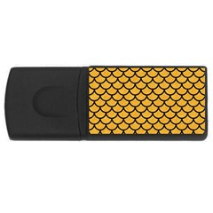 Scales1 Black Marble & Orange Colored Pencil (r) Rectangular Usb Flash Drive by trendistuff
