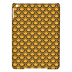 Scales2 Black Marble & Orange Colored Pencil (r) Ipad Air Hardshell Cases by trendistuff