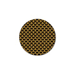 Scales3 Black Marble & Orange Colored Pencil Golf Ball Marker (4 Pack) by trendistuff