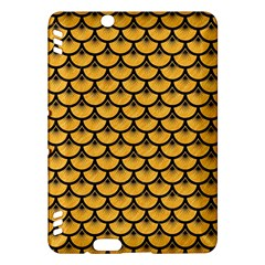 Scales3 Black Marble & Orange Colored Pencil (r) Kindle Fire Hdx Hardshell Case by trendistuff