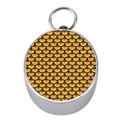 Scales3 Black Marble & Orange Colored Pencil (r) Mini Silver Compasses by trendistuff