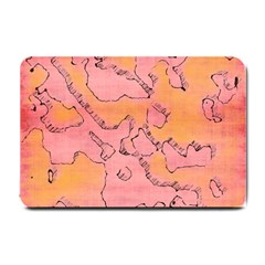 Fantasy Dungeon Maps 6 Small Doormat  by MoreColorsinLife