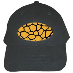Skin1 Black Marble & Orange Colored Pencil Black Cap by trendistuff