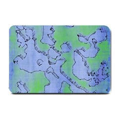 Fantasy Dungeon Maps 5 Small Doormat  by MoreColorsinLife