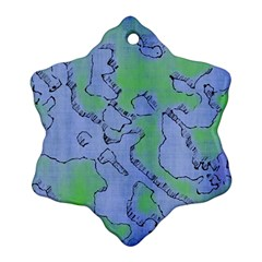 Fantasy Dungeon Maps 5 Snowflake Ornament (two Sides) by MoreColorsinLife