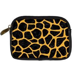 Skin1 Black Marble & Orange Colored Pencil (r) Digital Camera Cases by trendistuff