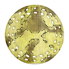 Fantasy Dungeon Maps 8 Ornament (round Filigree) by MoreColorsinLife