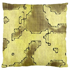 Fantasy Dungeon Maps 8 Large Cushion Case (one Side) by MoreColorsinLife