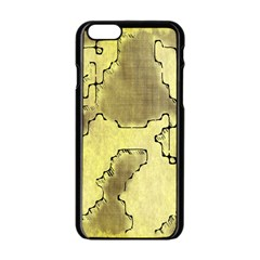 Fantasy Dungeon Maps 8 Apple Iphone 6/6s Black Enamel Case by MoreColorsinLife