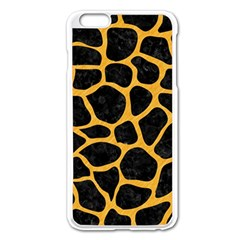 Skin1 Black Marble & Orange Colored Pencil (r) Apple Iphone 6 Plus/6s Plus Enamel White Case by trendistuff