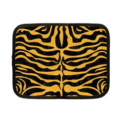 Skin2 Black Marble & Orange Colored Pencil Netbook Case (small)  by trendistuff
