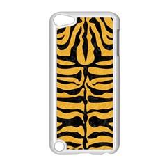 Skin2 Black Marble & Orange Colored Pencil (r) Apple Ipod Touch 5 Case (white) by trendistuff