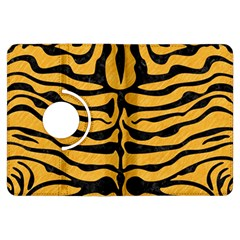 Skin2 Black Marble & Orange Colored Pencil (r) Kindle Fire Hdx Flip 360 Case by trendistuff