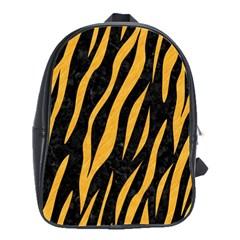 Skin3 Black Marble & Orange Colored Pencil School Bag (large) by trendistuff