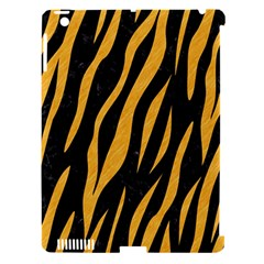 Skin3 Black Marble & Orange Colored Pencil Apple Ipad 3/4 Hardshell Case (compatible With Smart Cover) by trendistuff
