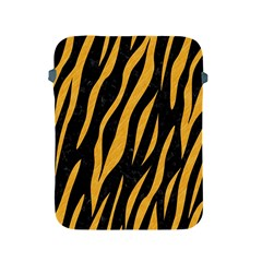 Skin3 Black Marble & Orange Colored Pencil Apple Ipad 2/3/4 Protective Soft Cases by trendistuff