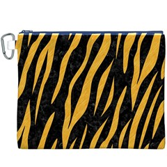 Skin3 Black Marble & Orange Colored Pencil Canvas Cosmetic Bag (xxxl) by trendistuff