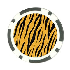 Skin3 Black Marble & Orange Colored Pencil (r) Poker Chip Card Guard (10 Pack) by trendistuff
