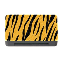 Skin3 Black Marble & Orange Colored Pencil (r) Memory Card Reader With Cf by trendistuff