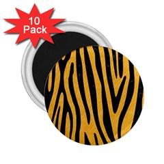 Skin4 Black Marble & Orange Colored Pencil 2 25  Magnets (10 Pack)  by trendistuff