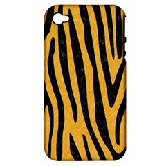 Skin4 Black Marble & Orange Colored Pencil Apple Iphone 4/4s Hardshell Case (pc+silicone) by trendistuff