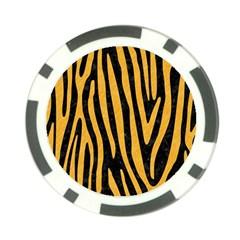 Skin4 Black Marble & Orange Colored Pencil (r) Poker Chip Card Guard (10 Pack) by trendistuff