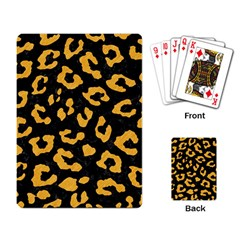 Skin5 Black Marble & Orange Colored Pencil (r) Playing Card by trendistuff