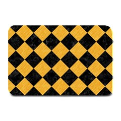Square2 Black Marble & Orange Colored Pencil Plate Mats by trendistuff