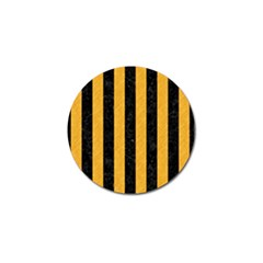 Stripes1 Black Marble & Orange Colored Pencil Golf Ball Marker by trendistuff