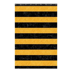 Stripes2 Black Marble & Orange Colored Pencil Shower Curtain 48  X 72  (small)  by trendistuff