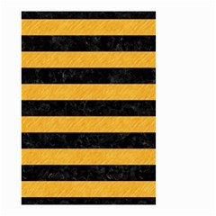 Stripes2 Black Marble & Orange Colored Pencil Small Garden Flag (two Sides) by trendistuff