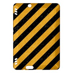 Stripes3 Black Marble & Orange Colored Pencil Kindle Fire Hdx Hardshell Case by trendistuff